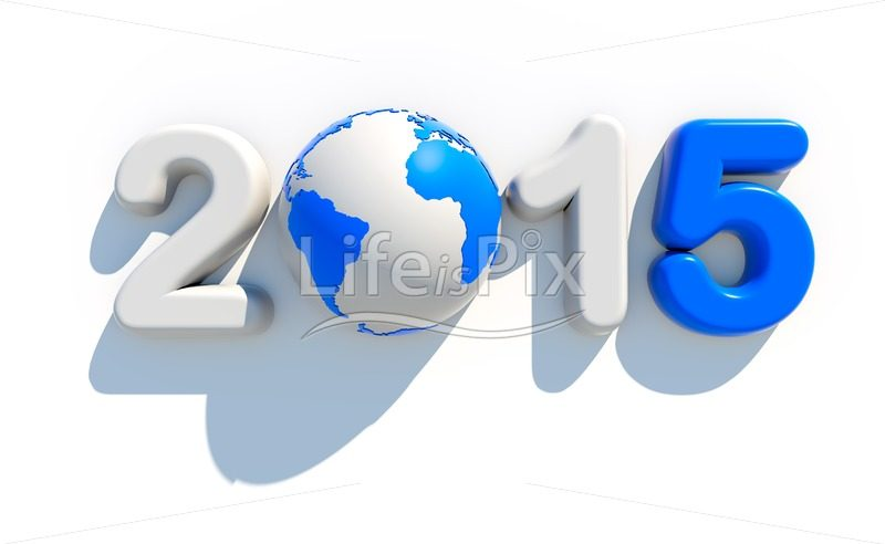 2015 new year logo on white background | 3d illustration - Royalty free stock photos, illustrations and 3d letters fonts