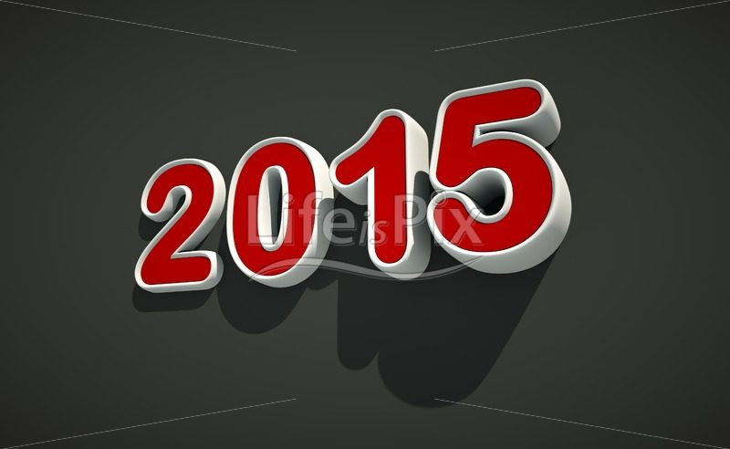3D New year 2015 logo on black background – Royalty free stock photos, illustrations and 3d letters fonts