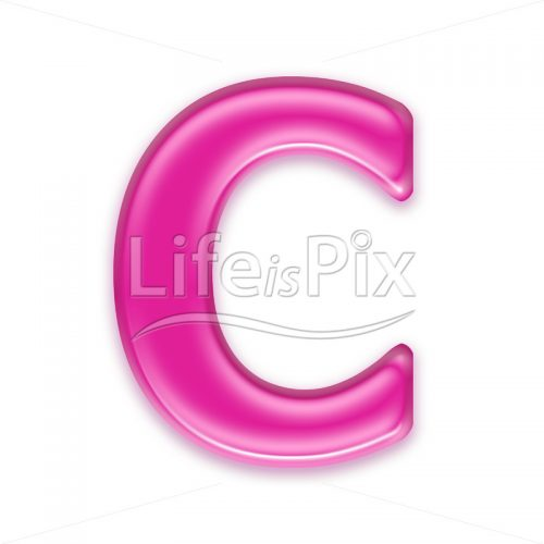 3D jelly letter isolated on white background – C – Royalty free stock photos, illustrations and 3d letters fonts