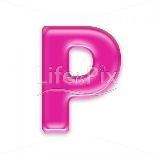 3D jelly letter isolated on white background – P – Royalty free stock photos, illustrations and 3d letters fonts