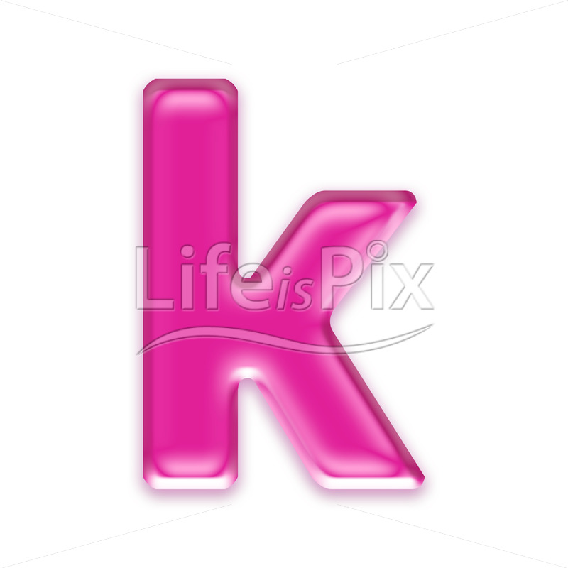 3D jelly lower case letter isolated on white background – k - Royalty free stock photos, illustrations and 3d letters fonts