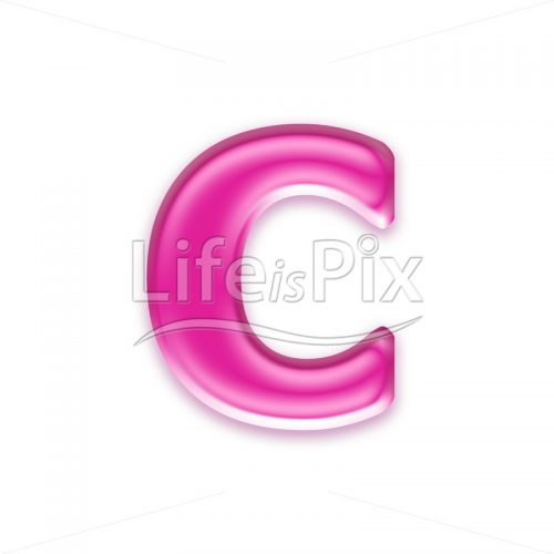 3D jelly lower case letter isolated on white background – c – Royalty free stock photos, illustrations and 3d letters fonts