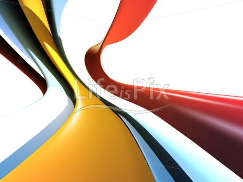 3d abstract background with colored shapes - Royalty free stock photos, illustrations and 3d letters fonts