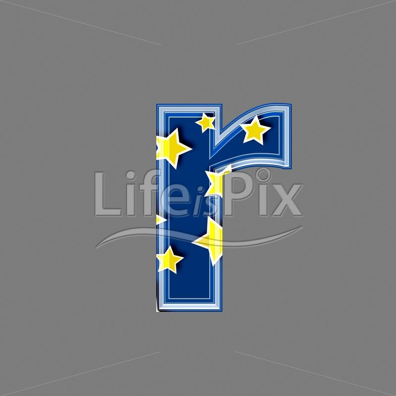 3d blue lowercase letter with star pattern – R – Royalty free stock photos, illustrations and 3d letters fonts