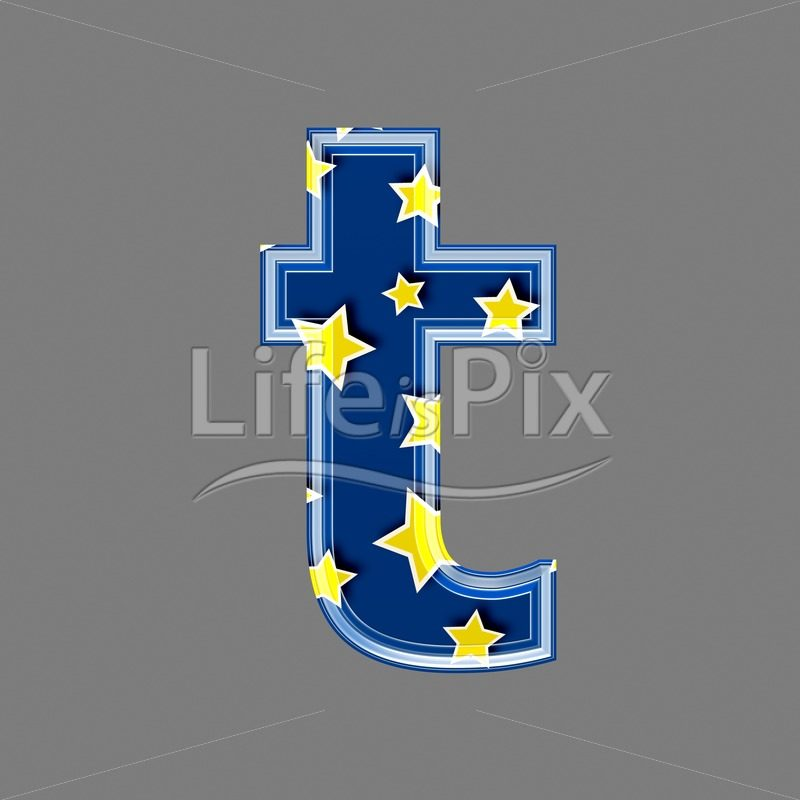 3d blue lowercase letter with star pattern – T – Royalty free stock photos, illustrations and 3d letters fonts