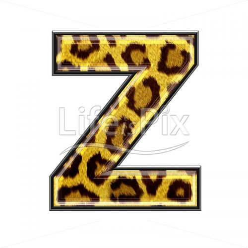 3d capital letter capital letter with panther skin texture – Z – Royalty free stock photos, illustrations and 3d letters fonts