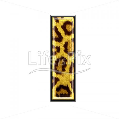 3d capital letter with panther skin texture – I – Royalty free stock photos, illustrations and 3d letters fonts