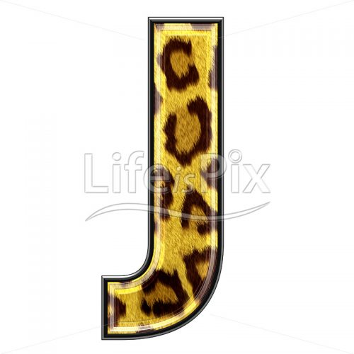 3d capital letter with panther skin texture – J – Royalty free stock photos, illustrations and 3d letters fonts