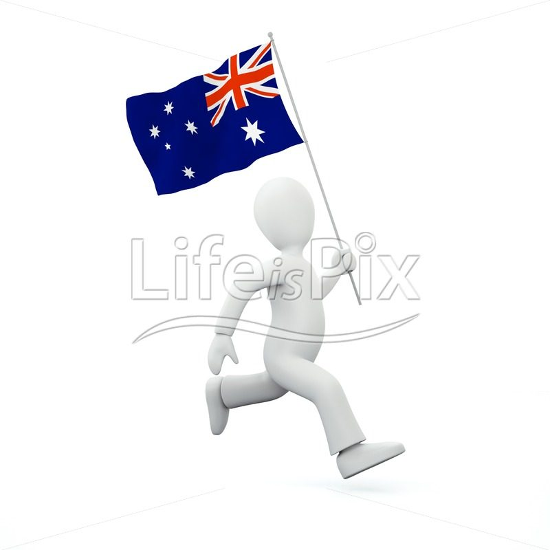 3d character with new zealand flag - Royalty free stock photos, illustrations and 3d letters fonts