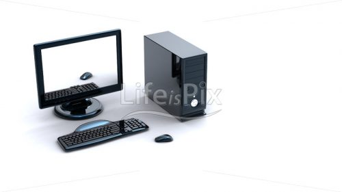 3d computer with keyboard and mouse – Royalty free stock photos, illustrations and 3d letters fonts