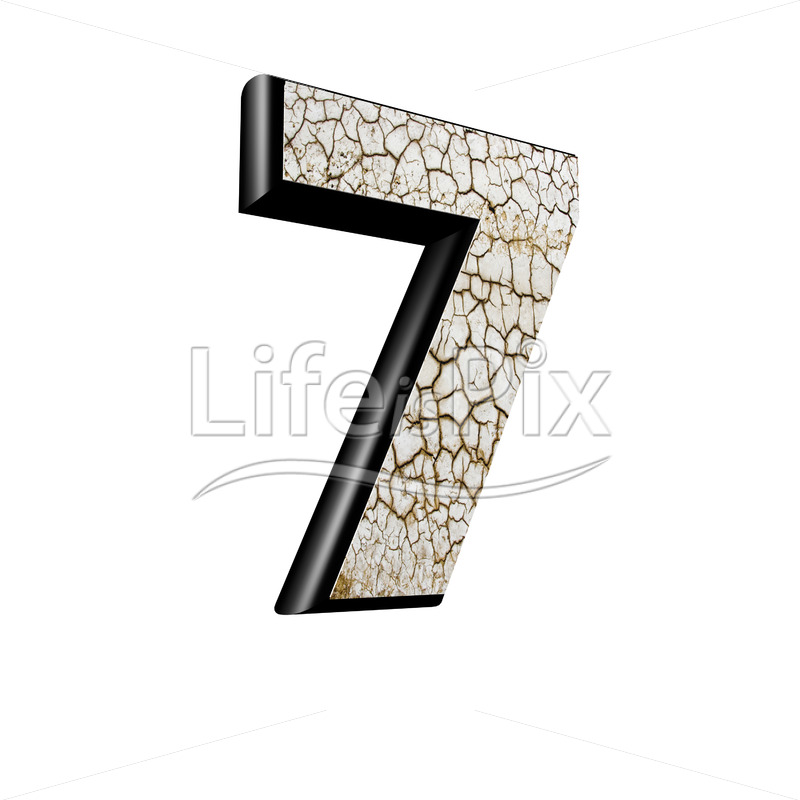 3d digit with cracked dry ground texture – 7 – Royalty free stock photos, illustrations and 3d letters fonts
