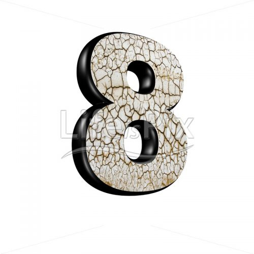3d digit with cracked dry ground texture – 8 – Royalty free stock photos, illustrations and 3d letters fonts