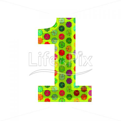 3d digit with decorative texture – 1 – Royalty free stock photos, illustrations and 3d letters fonts