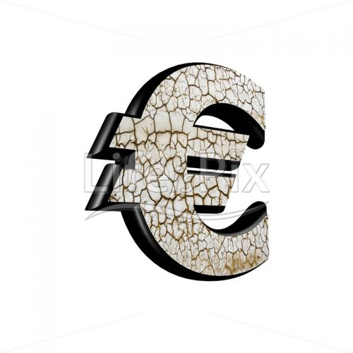 3d euro sign with dry ground texture – currency sign – Royalty free stock photos, illustrations and 3d letters fonts