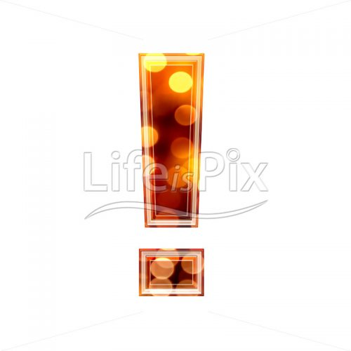 3d exclamation point with blur defocus lights texture – Royalty free stock photos, illustrations and 3d letters fonts