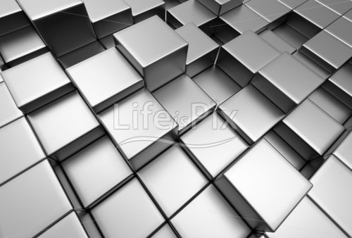 3d glossy metallic cubes - Royalty free stock photos, illustrations and 3d letters fonts