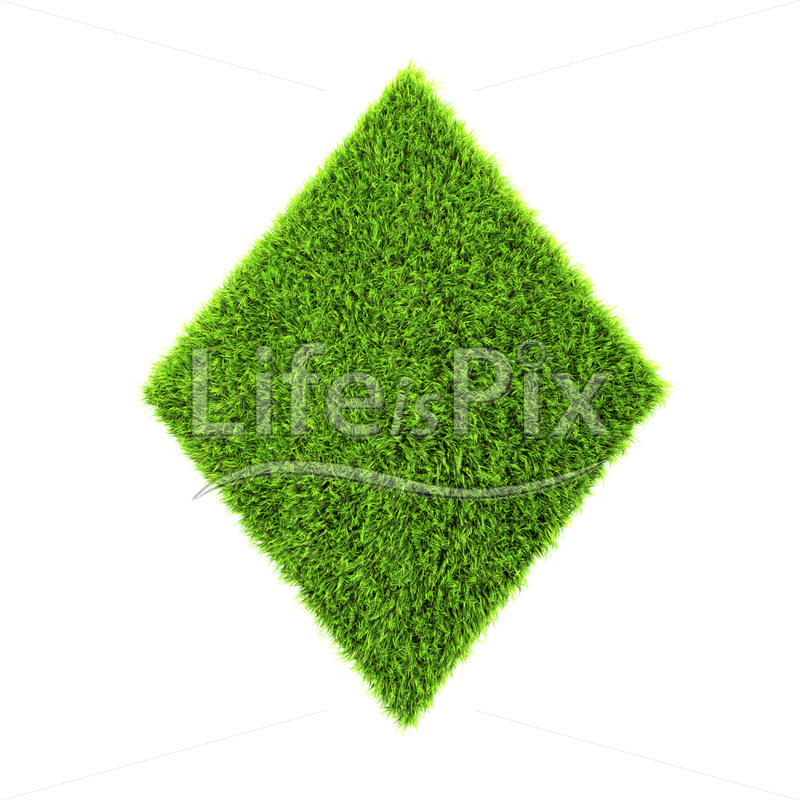 3d grass diamond isolated on a white background – Royalty free stock photos, illustrations and 3d letters fonts