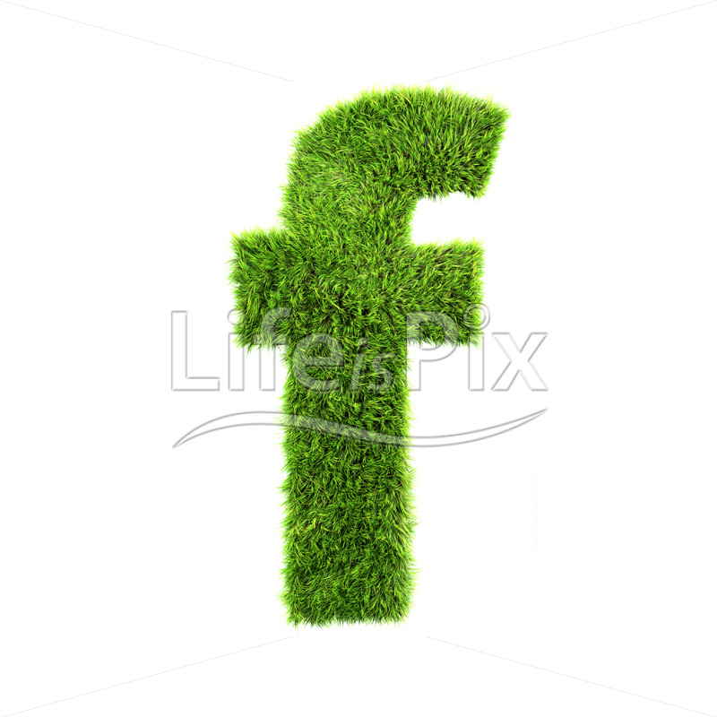 3d grass letter isolated on white background – small f - Royalty free stock photos, illustrations and 3d letters fonts