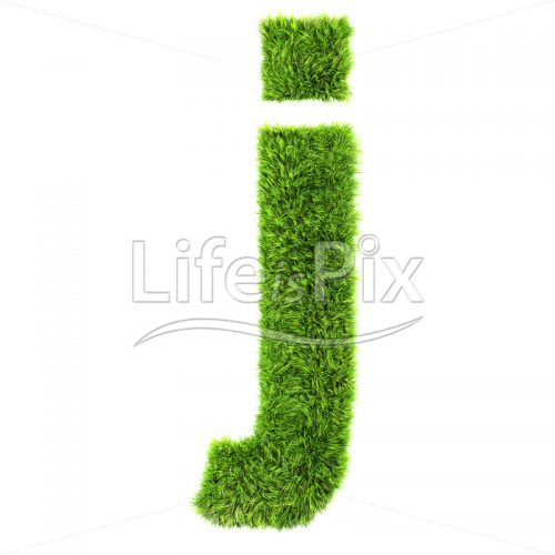 3d grass letter isolated on white background – small j - Royalty free stock photos, illustrations and 3d letters fonts