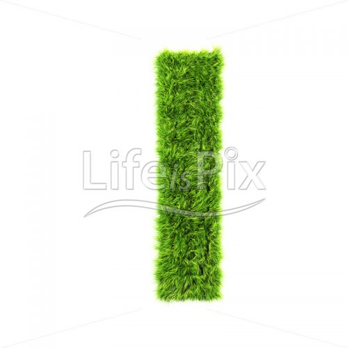 3d grass letter isolated on white background – small l - Royalty free stock photos, illustrations and 3d letters fonts