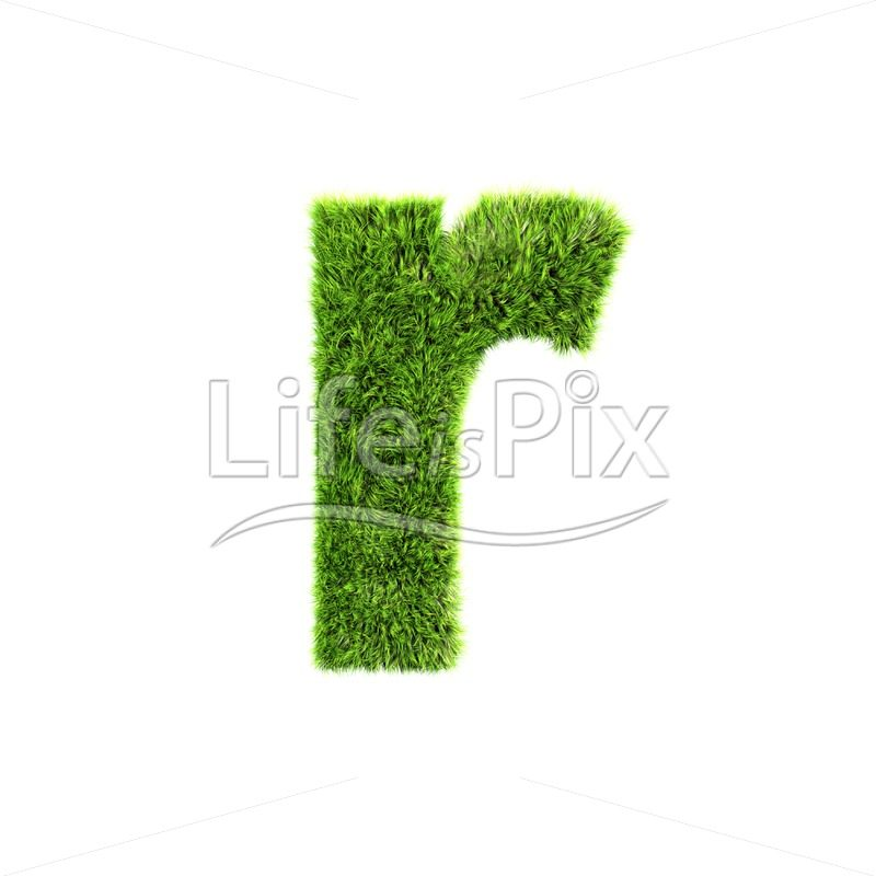 3d grass letter isolated on white background – small r - Royalty free stock photos, illustrations and 3d letters fonts