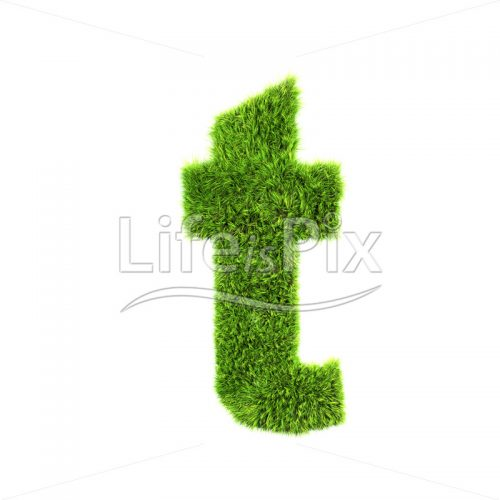 3d grass letter isolated on white background – small t - Royalty free stock photos, illustrations and 3d letters fonts