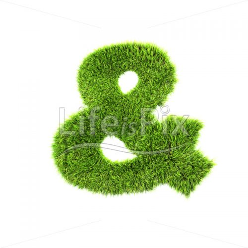 3d grass sign isolated on white background – & – Royalty free stock photos, illustrations and 3d letters fonts