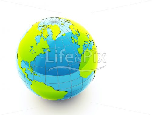 3d green globe - Royalty free stock photos, illustrations and 3d letters fonts
