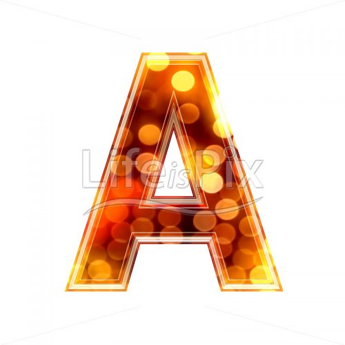 3d letter with blur defocus lights texture – A – Royalty free stock photos, illustrations and 3d letters fonts