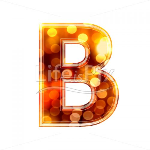 3d letter with blur defocus lights texture – B – Royalty free stock photos, illustrations and 3d letters fonts