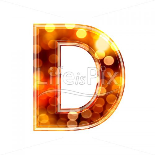 3d-letter-with-blur-defocus-lights-texture-D