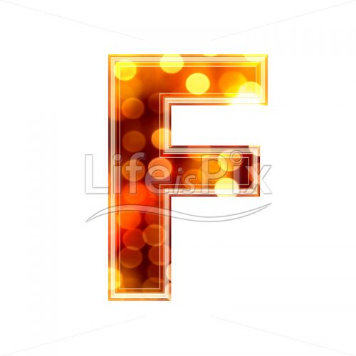 3d letter with blur defocus lights texture – F – Royalty free stock photos, illustrations and 3d letters fonts