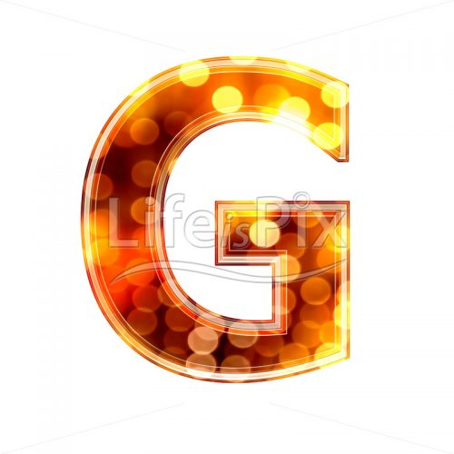 3d letter with blur defocus lights texture – G – Royalty free stock photos, illustrations and 3d letters fonts