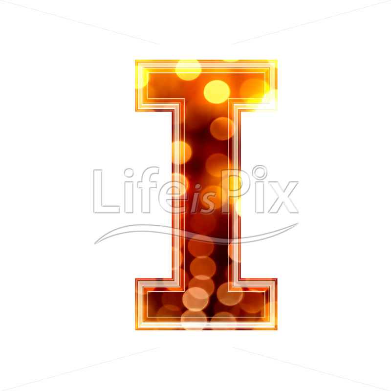 3d letter with blur defocus lights texture – I – Royalty free stock photos, illustrations and 3d letters fonts
