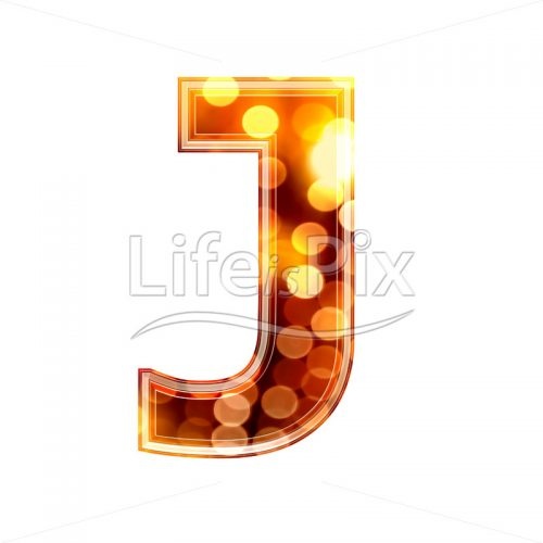 3d letter with blur defocus lights texture – J – Royalty free stock photos, illustrations and 3d letters fonts