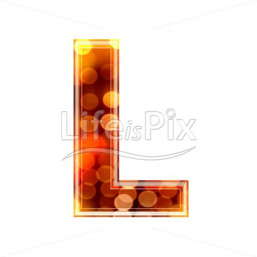 3d letter with blur defocus lights texture – L – Royalty free stock photos, illustrations and 3d letters fonts