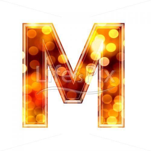 3d letter with blur defocus lights texture – M – Royalty free stock photos, illustrations and 3d letters fonts