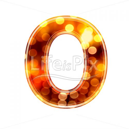 3d-letter-with-blur-defocus-lights-texture-O