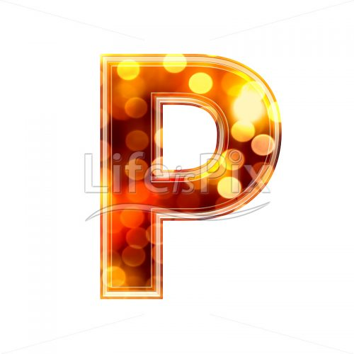 3d letter with blur defocus lights texture – P – Royalty free stock photos, illustrations and 3d letters fonts