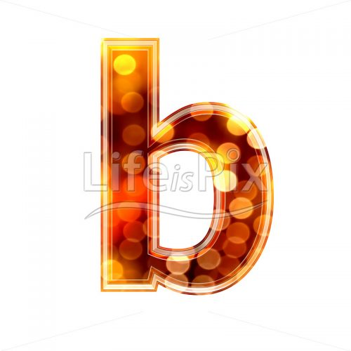 3d letter with blur defocus lights texture – small b – Royalty free stock photos, illustrations and 3d letters fonts