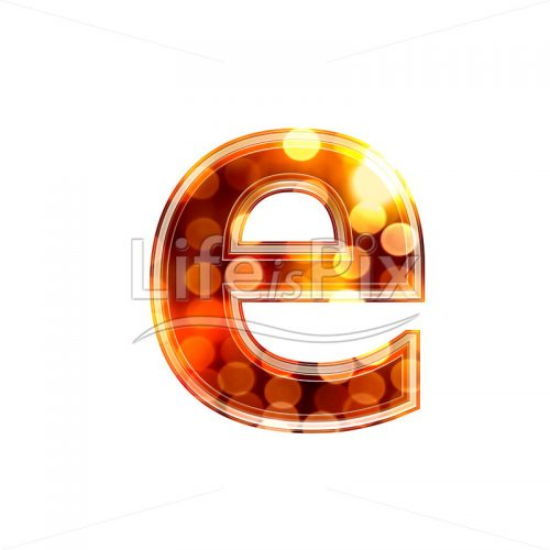3d letter with blur defocus lights texture – small e – Royalty free stock photos, illustrations and 3d letters fonts