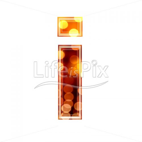 3d letter with blur defocus lights texture – small i – Royalty free stock photos, illustrations and 3d letters fonts