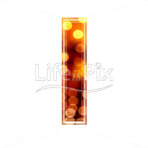 3d letter with blur defocus lights texture – small l – Royalty free stock photos, illustrations and 3d letters fonts