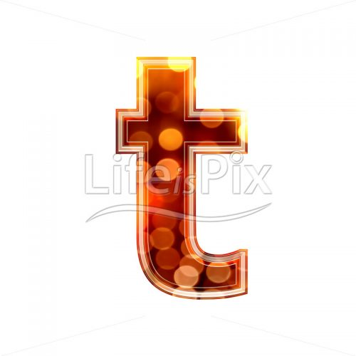 3d letter with blur defocus lights texture – small t – Royalty free stock photos, illustrations and 3d letters fonts