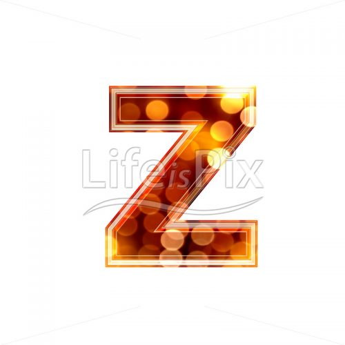3d letter with blur defocus lights texture – small z – Royalty free stock photos, illustrations and 3d letters fonts