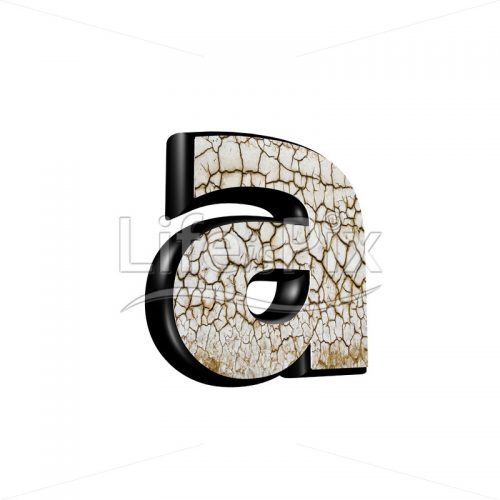 3d letter with cracked dry ground texture – a - Royalty free stock photos, illustrations and 3d letters fonts