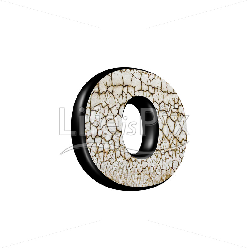 3d letter with cracked dry ground texture – o - Royalty free stock photos, illustrations and 3d letters fonts
