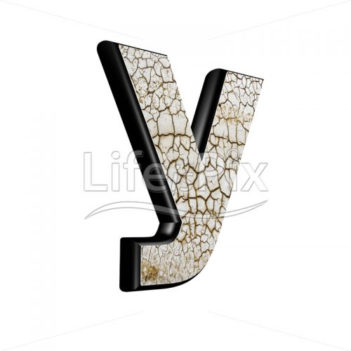 3d letter with cracked dry ground texture – y - Royalty free stock photos, illustrations and 3d letters fonts
