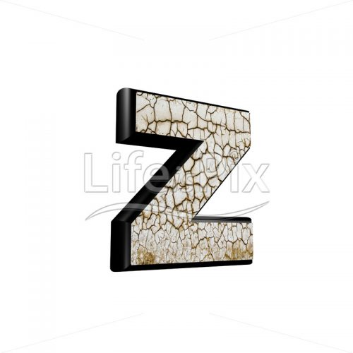 3d letter with cracked dry ground texture – z - Royalty free stock photos, illustrations and 3d letters fonts