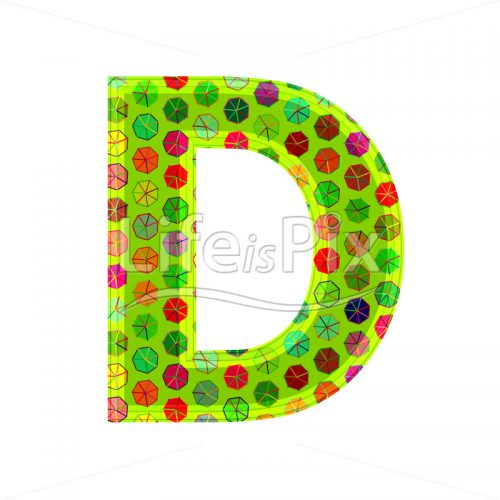 3d letter with decorative texture – D - Royalty free stock photos, illustrations and 3d letters fonts
